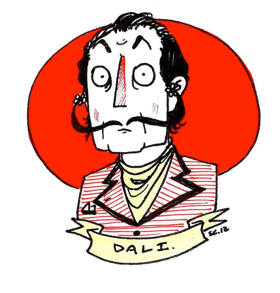Salvador Dali doodle